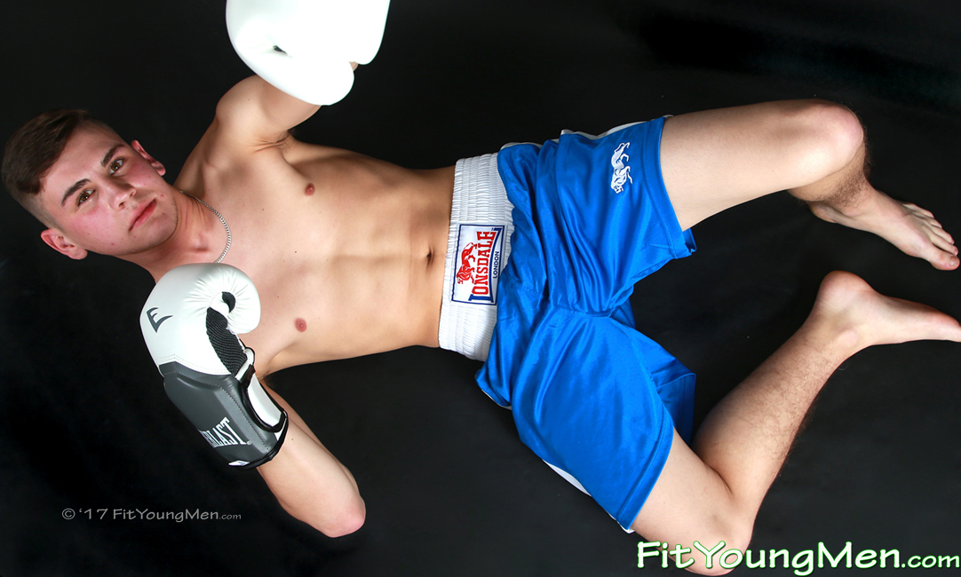 Fit Young Men Model Dominic Moore Naked Boxer