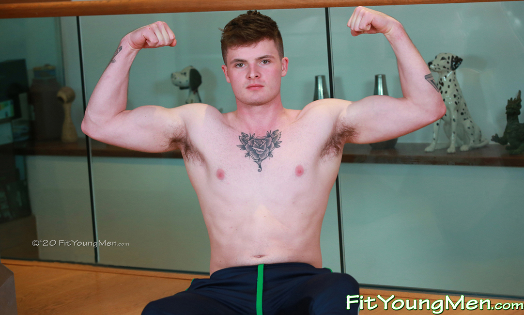 Fit Young Men: Model Shane Kelly - Personal Trainer - Young Muscular Rugby Player Shows off his Big Muscles & Ripped Body